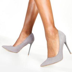 NWT Grey Pointed Court Stiletto Heels